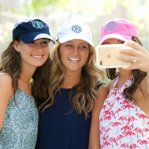Monogrammed Ball Caps Cotton Twill in Bright and Classic Colors  Apparel & Accessories > Clothing Accessories > Hats > Caps > Baseball Caps