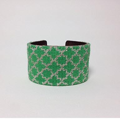 Royal Quatrefoil Needlepoint Cuff Royal Quatrefoil Cuff Apparel & Accessories > Jewelry > Bracelets
