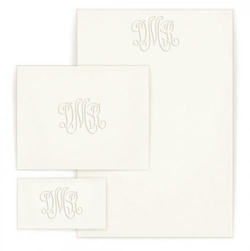 Personalized Embossed Henley Monogram Wardrobe  Office Supplies > General Supplies > Paper Products > Stationery