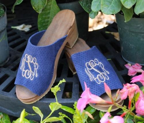 The Pink Monogram Sandals Leather or Suede   Monogram NULL