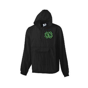Monogrammed Lightweight Rain Pullover  Apparel & Accessories > Clothing > Outerwear > Rain Gear > Raincoats