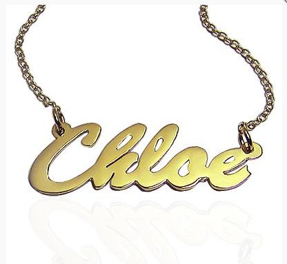 "Personalized Name Necklace in ""Chloe"" Script   Apparel & Accessories > Jewelry > Necklaces"