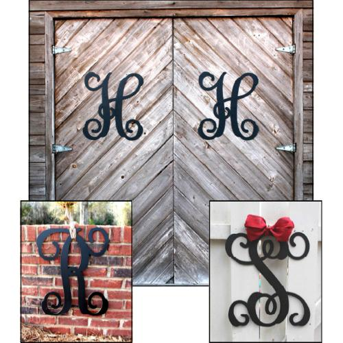 "Single Initial Script Metal Monogram 20""  Home & Garden > Decor > Plaques"