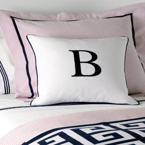 Monogram Letter Throw Pillow : Monogrammed Matouk Single Letter Decorative Pillow