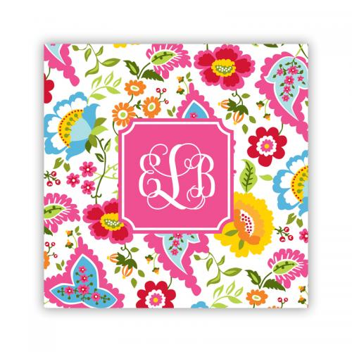 Personalized Coasters Bright Floral Pattern  Home & Garden > Kitchen & Dining > Barware > Coasters