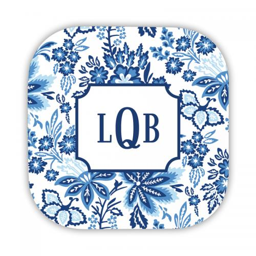 Personalized Coasters Classic Floral Blue  Home & Garden > Kitchen & Dining > Barware > Coasters