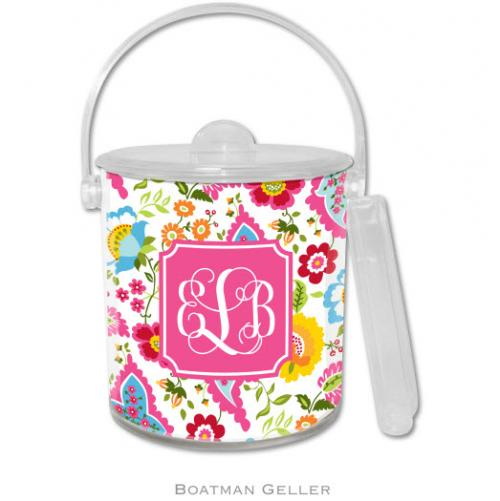Personalized Ice Bucket Bright Floral   Home & Garden > Kitchen & Dining > Barware > Coasters