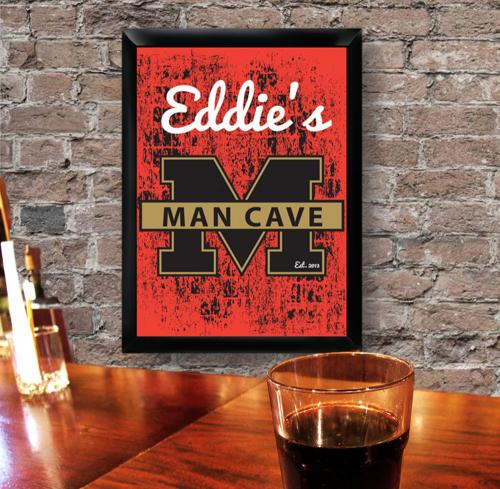 Best Man Cave Gifts : Personalized stadium man cave pub sign