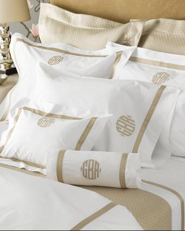 Matouk Lowell Monogrammed Bedding Collection  Matouk Lowell Monogrammed Bedding Collection Home & Garden > Linens & Bedding > Bedding