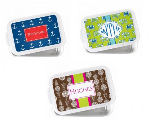 Monogrammed Covered Casserole or Cake Pan  Home & Garden > Kitchen & Dining > Cookware & Bakeware > Bakeware > Muffin & Cupcake Pans