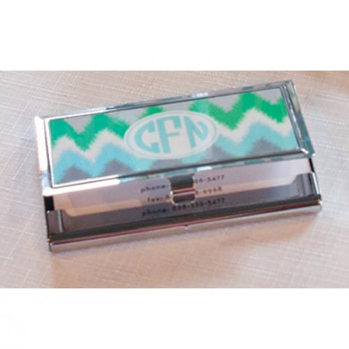 Monogrammed Business Card Holder fice Supplies Filing