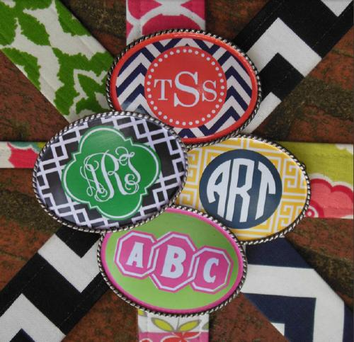 Monogrammed Belt Buckles Custom Design A Buckle  Apparel & Accessories > Clothing Accessories > Belt Buckles