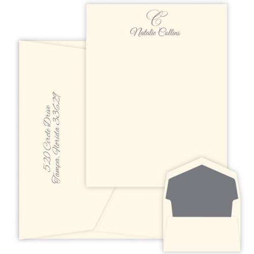Personalized Waterton Raised Ink Correspondence Card  Office Supplies > General Supplies > Paper Products > Stationery