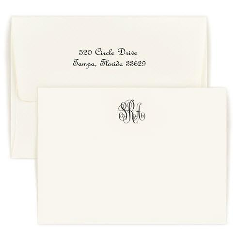 Personalized Classic Monogram Raised Ink Card  Office Supplies > General Supplies > Paper Products > Stationery