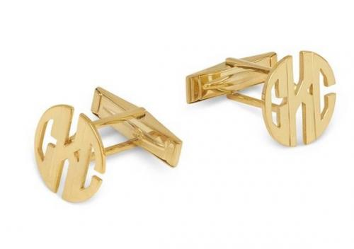 Monogrammed Hand Cut Men's Cufflinks  Apparel & Accessories > Jewelry > Cufflinks