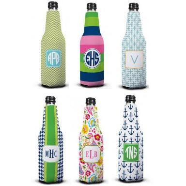 Boatman Geller Personalized Bottle Koozies  Home & Garden > Kitchen & Dining > Food & Beverage Carriers > Drink Sleeves > Can & Bottle Sleeves