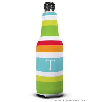 Boatman Geller Personalized Espadrille Bright Bottle Koozie  Home & Garden > Kitchen & Dining > Food & Beverage Carriers > Drink Sleeves > Can & Bottle Sleeves