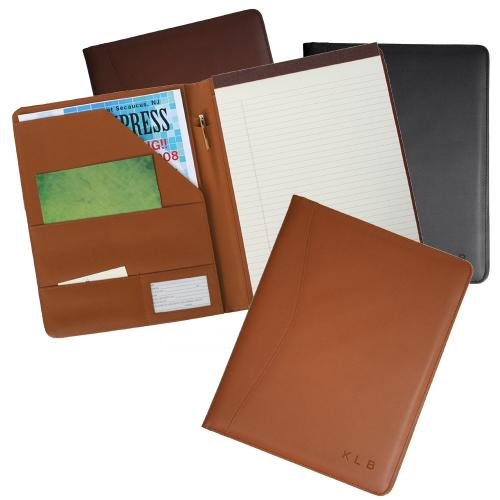 Personalized Embossed Leather Padfolio Folder  Office Supplies > Filing & Organization > Report Covers & Portfolios