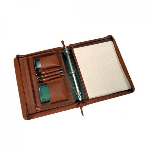 Personalized Leather Convertible Zip Around Binder or Folio  Office Supplies > Filing & Organization > Calendars, Organizers & Planners