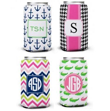 Boatman Gellar Monogrammed Can Koozies  Home & Garden > Kitchen & Dining > Food & Beverage Carriers > Drink Sleeves > Can & Bottle Sleeves