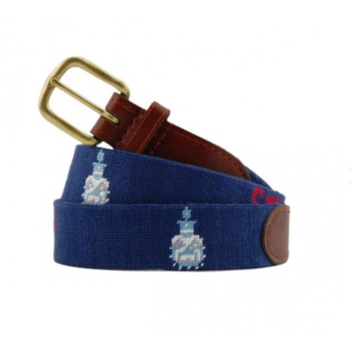 Smathers and Branson The Citadel Needlepoint Belt - Monogram Option  Apparel & Accessories > Clothing Accessories > Belts