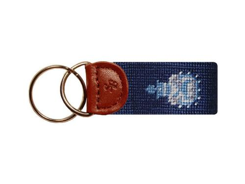 Smathers and Branson The Citadel Needlepoint Key Fob Smathers and Branson Citadel Needlepoint Key Fob Luggage & Bags > Luggage Accessories > Keychains