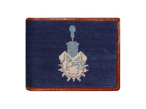 Smathers and Branson Citadel Needlepoint Bi-Fold Leather Wallet   Apparel & Accessories > Clothing Accessories > Wallets & Money Clips