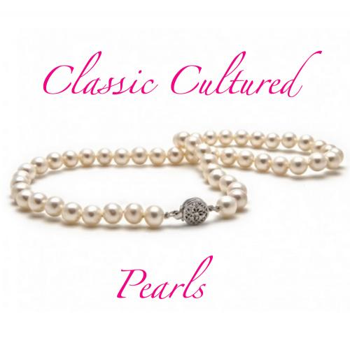 Classic White 7mm Cultured Pearl Necklace  Apparel & Accessories > Jewelry > Necklaces