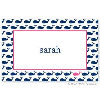 Boatman Geller Personalized Whale Placemat  Home & Garden > Linens & Bedding > Table Linens > Placemats