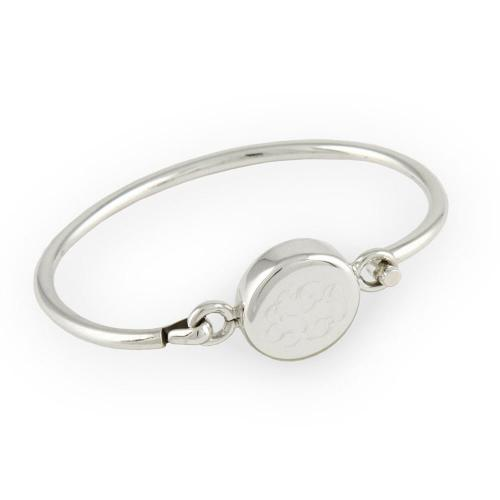 Monogrammed Bracelet Sterling Silver Round for Girls or Teens  Apparel & Accessories > Jewelry > Bracelets