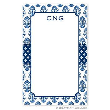 Boatman Geller Personalized Noteped in Beti Navy Pattern  Office Supplies > General Supplies > Paper Products > Notebooks & Notepads