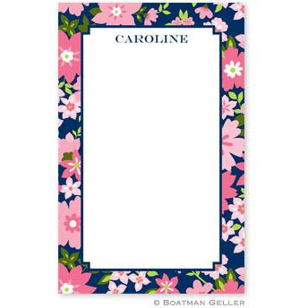 Boatman Geller Personalized Notepad in Caroline Floral Pink   Office Supplies > General Supplies > Paper Products > Notebooks & Notepads