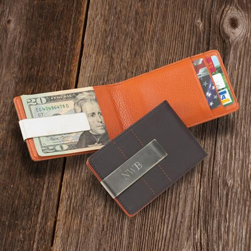 Personalized Wallet and Money Clip Men's Metro Leather Personalized Money Clip and Wallet Men's Metro Leather Apparel & Accessories > Handbags, Wallets & Cases