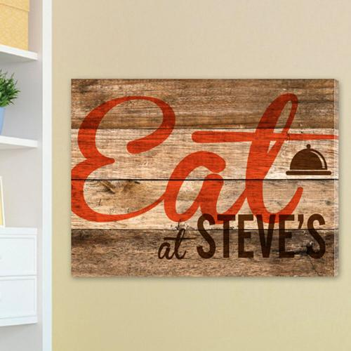 Personalized Customized Canvas Sign Wood Restaurant Print Personalized Canvas Sign Wood Restaurant Print Home & Garden > Decor > Novelty Signs