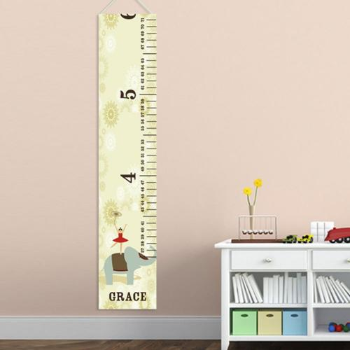 Personalized Growth Chart Circus Princess  Personalized Height Growth Chart Circus Princess Home & Garden > Decor