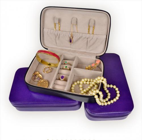 Monogrammed Zippered Jewelry Travel Case  Health & Beauty > Jewelry Cleaning & Care > Jewelry Holders