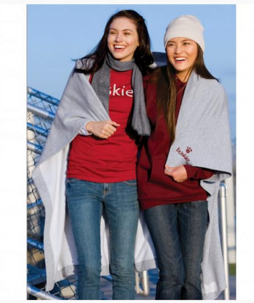 Cozy Personalized Sweatshirt Jersey Blanket  Home & Garden > Linens & Bedding > Bedding