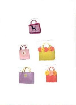 Little Girl Purses At The Pink Monogram