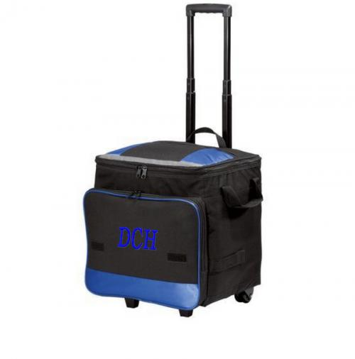 Monogrammed Rolling Cooler in Black, Red or Blue  Home & Garden > Kitchen & Dining > Food & Beverage Carriers > Coolers