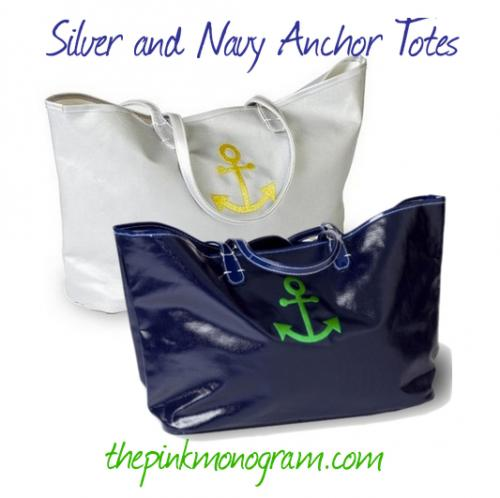 Personalized Canvas Anchor Tote in 4 Colors  Apparel & Accessories > Handbags > Tote Handbags