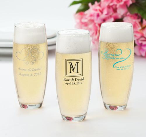 Personalized Stemless Champagne Flutes Case of 24  Home & Garden > Kitchen & Dining > Tableware > Drinkware > Stemware > Champagne Glasses