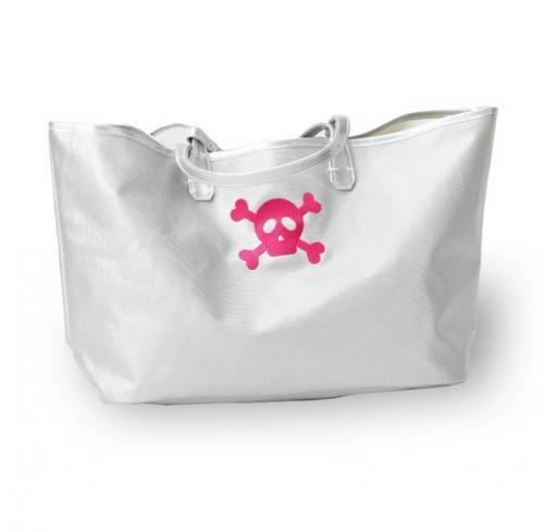 Skull and Crossbones Canvas Beach Tote  Luggage & Bags > Shopping Totes