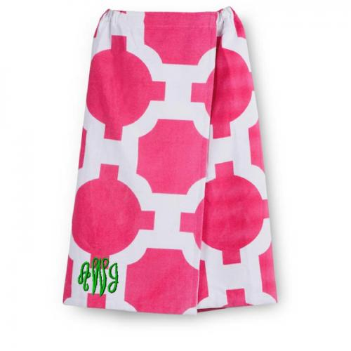 Monogrammed Terry Wrap for Graduation in 4 Colors   Apparel & Accessories > Clothing > Sleepwear & Loungewear
