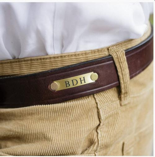 Men's Personalized Leather Single Shot Cannon's Point Belt  Apparel & Accessories > Clothing Accessories > Belts