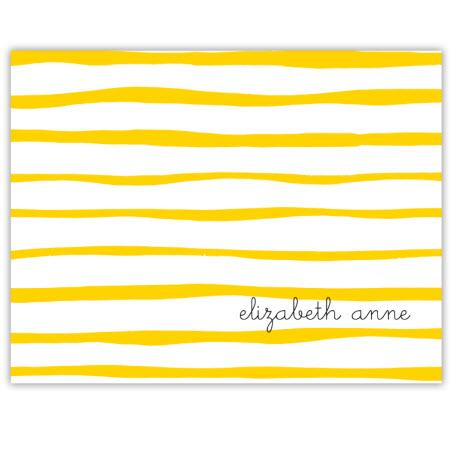 Boatman Geller Personalized Stripe Foldover Note  Office Supplies > General Supplies > Paper Products > Stationery