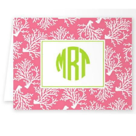 Boatman Geller Personalized Coral Note  Office Supplies > General Supplies > Paper Products > Stationery