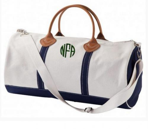 Large Round Personalized Travel Duffel   Luggage & Bags > Duffel Bags