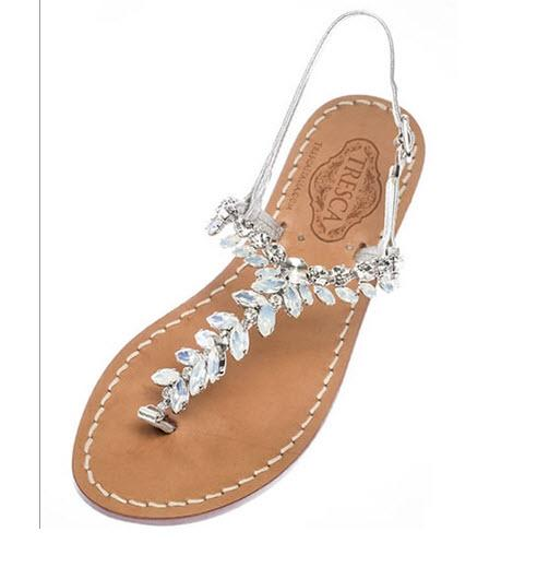 Italian Jeweled Sandals The Giuliana  Apparel & Accessories > Shoes > Sandals