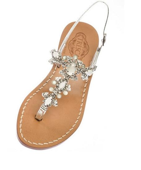 Italian made Jeweled Sandals The Marcella  Apparel & Accessories > Shoes > Sandals