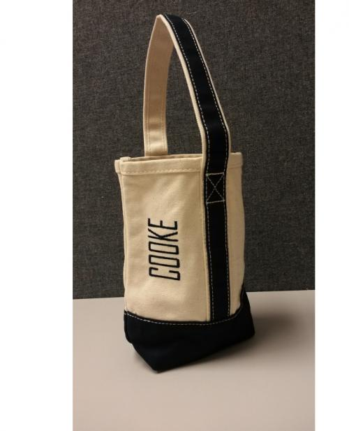 Monogrammed Canvas Wine Tote Carrier   Home & Garden > Kitchen & Dining > Food & Beverage Carriers > Wine Carrier Bags